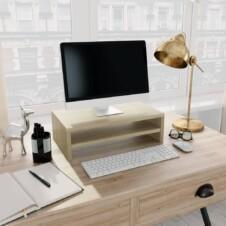 Monitor Stand Sonoma Oak 42x24x13 cm Chipboard