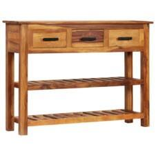Sideboard with 3 Drawers 110x30x80 cm Solid Sheesham Wood