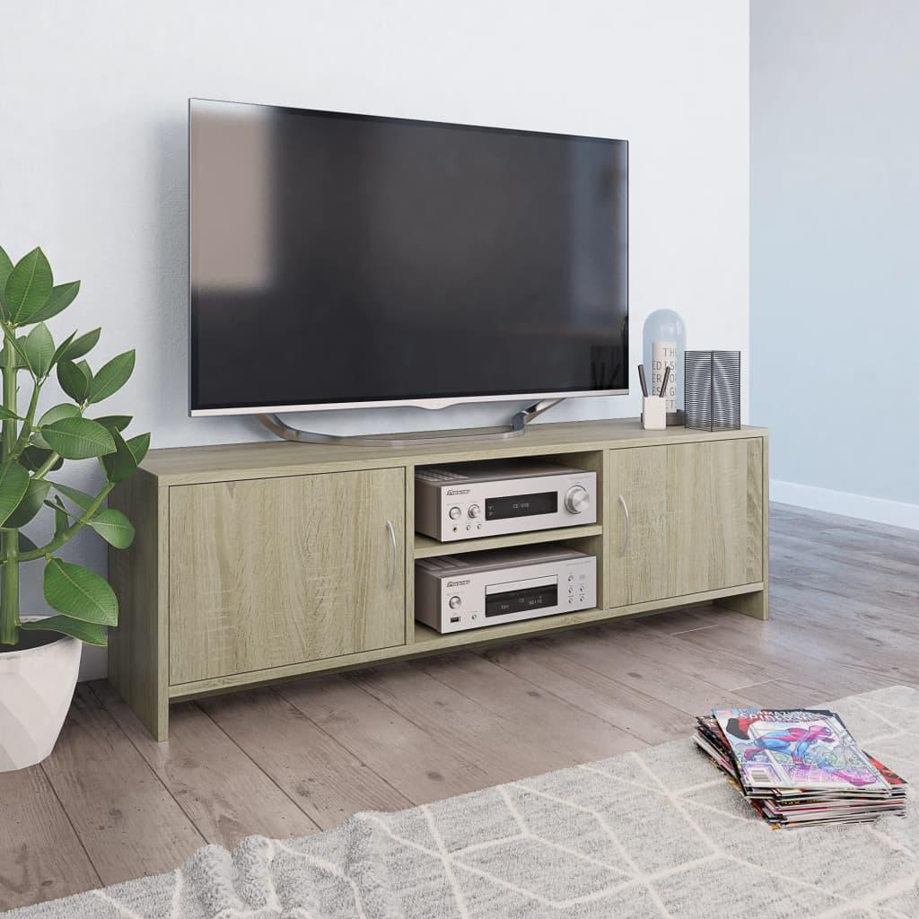 TV Unit Sonoma Oak 120cm Chipboard