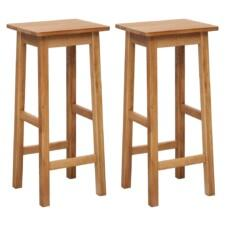 Bar Chairs 2 pcs 30x35x75 cm Solid Oak Wood