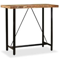 Bar Table Solid Reclaimed Wood 120x60x107 cm