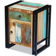 Bedside Cabinet Solid Reclaimed Wood