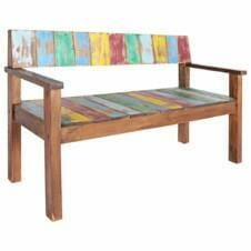 Bench Solid Reclaimed Boat Wood 125x51x80 cm