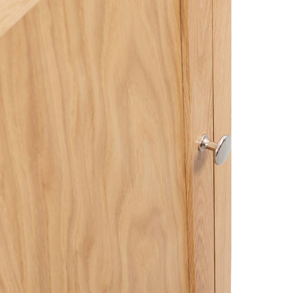 Corner Cabinet 59x36x80 cm Solid Oak Wood
