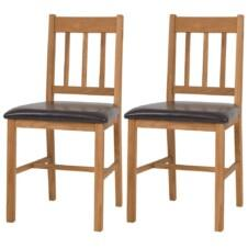 Dining Chairs 2 pcs Solid Oak 43x48x85 cm