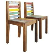 Dining Chairs 2 pcs Solid Reclaimed Boat Wood 45x45x85 cm