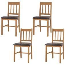 Dining Chairs 4 pcs Solid Oak 43x48x85 cm