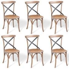 Dining Chairs 6 pcs 48x45x90 cm Solid Oak Wood