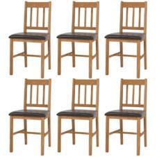 Dining Chairs 6 pcs Solid Oak 43x48x85 cm
