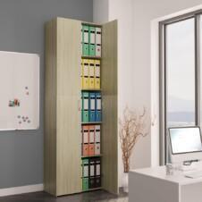 Office Cabinet Sonoma Oak 60x32x190 cm Chipboard