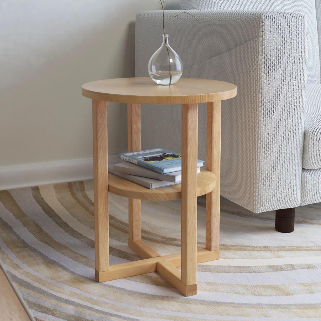 Side Table 40x50 cm Solid Oak Wood