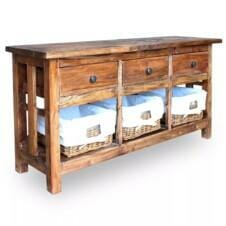 Sideboard Solid Reclaimed Wood 100x30x50 cm