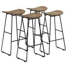 Bar Chairs 4 pcs Reclaimed Teak 41x30x74 cm