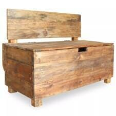 Bench Solid Reclaimed Wood 86x40x60 cm