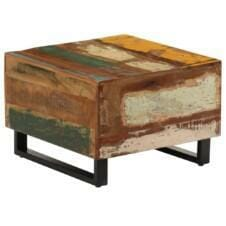 Coffee Table 50x50x35 cm Solid Reclaimed Wood