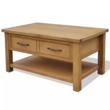 Coffee Table 88x53x45 cm Solid Oak Wood