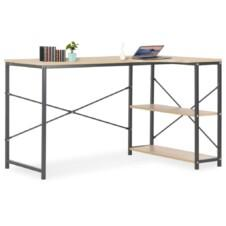 Computer Desk Black and Oak 120x72x70 cm