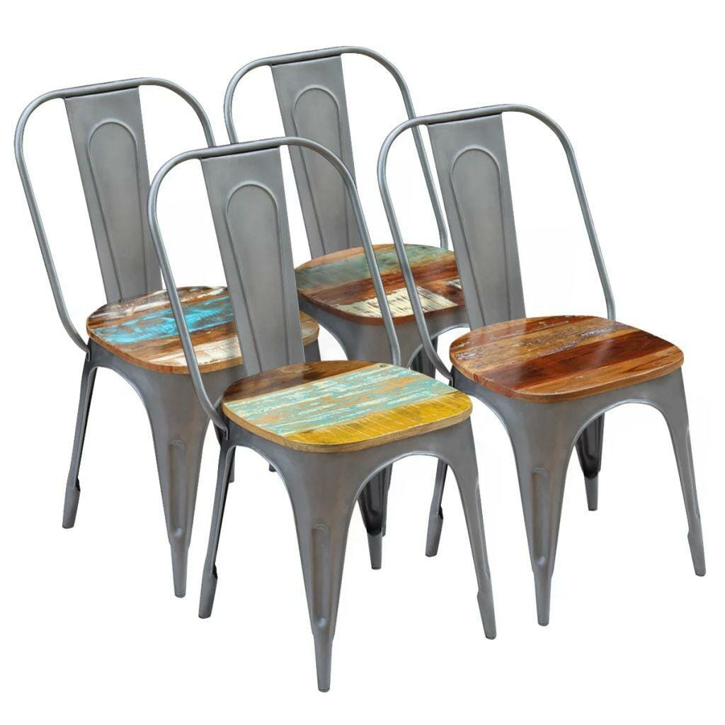 Dining Chairs 4 pcs Solid Reclaimed Wood 47x52x89 cm