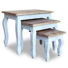 Nesting Table Set 3 Pieces Solid Reclaimed Wood