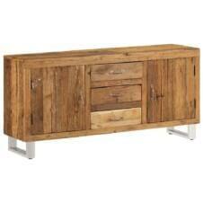 Sideboard Solid Reclaimed Sleeper Wood 160x40x76 cm
