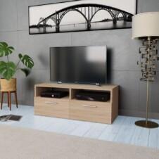 TV Cabinet Chipboard 95x35x36 cm Oak