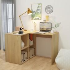 Writing Desk with Bookshelf 117x92x75.5 cm Oak