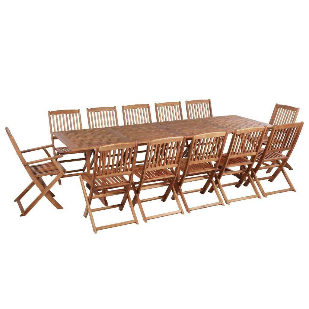 12 Seater Outdoor Dining Set Solid Acacia Wood