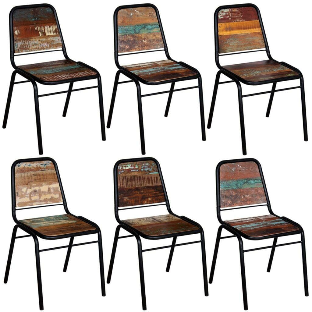 Dining Chairs 6 pcs Solid Reclaimed Wood 44x59x89 cm