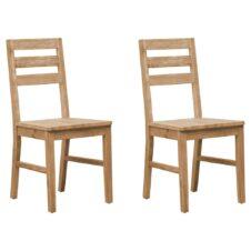 Acacia Wood Dining Chairs