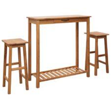 Oak Wood Bar Sets